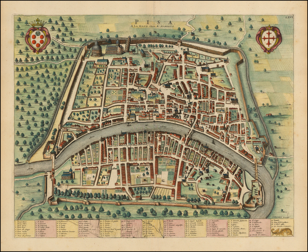 42-Northern Italy and Other Italian Cities Map By Johannes Blaeu