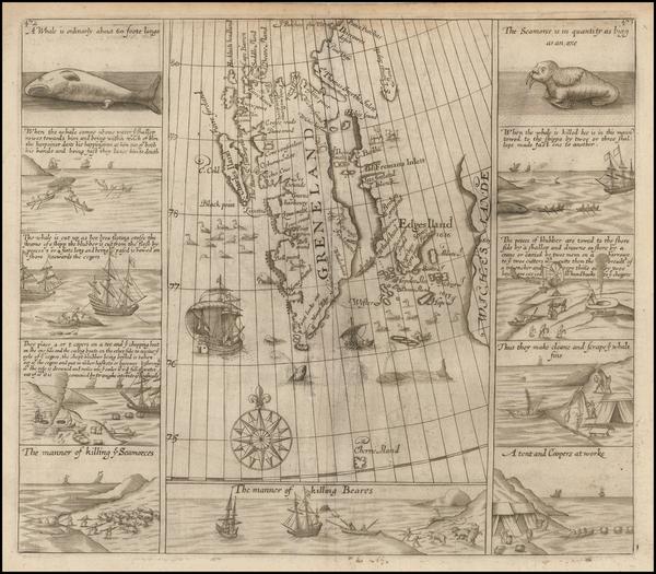 51-Northern Hemisphere, Polar Maps, Russia and Scandinavia Map By Samuel Purchas