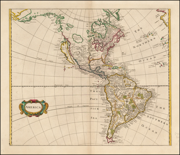 52-South America and America Map By Robert Morden