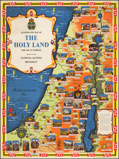 26-Holy Land and Pictorial Maps Map By Mahoney