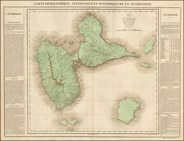 94-Caribbean and Other Islands Map By Jean Alexandre Buchon