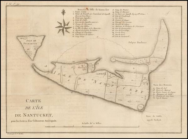 88-Massachusetts Map By Pierre Antoine Tardieu