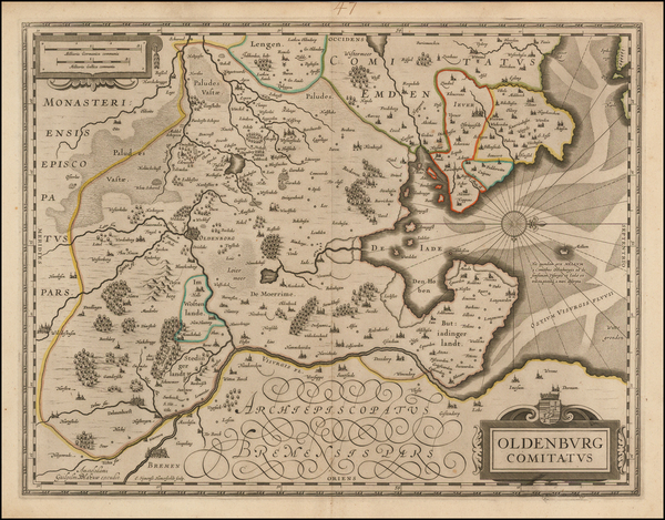 18-Germany Map By Willem Janszoon Blaeu