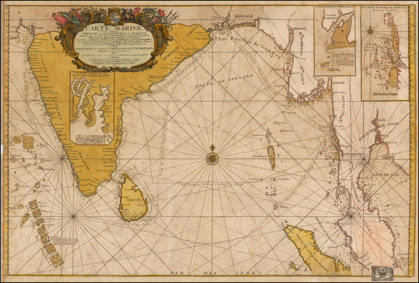 88-Indian Ocean, India, Southeast Asia, Other Islands and Central Asia & Caucasus Map By Jean-