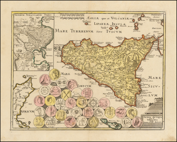 11-Sicily Map By Johann Christoph Weigel