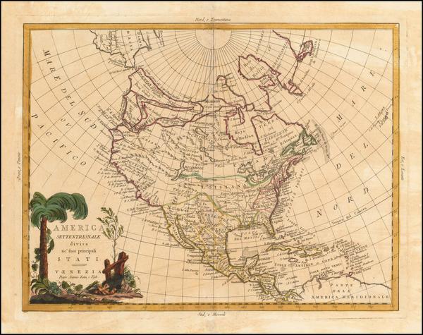 62-Polar Maps, Alaska and North America Map By Antonio Zatta