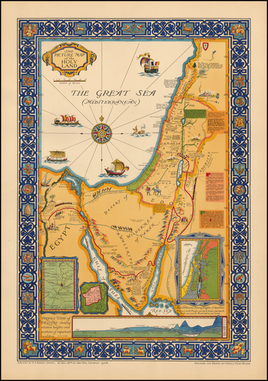 13-Holy Land and Pictorial Maps Map By Harold Haven Brown