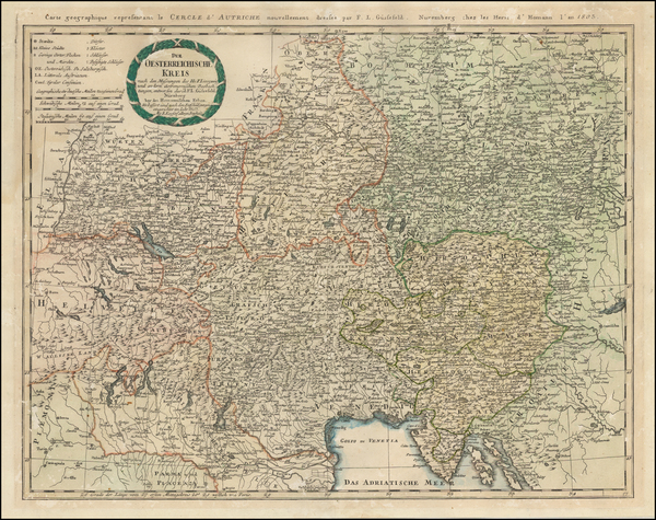 20-Germany, Austria, Hungary, Czech Republic & Slovakia and Italy Map By Franz Ludwig Gussefel