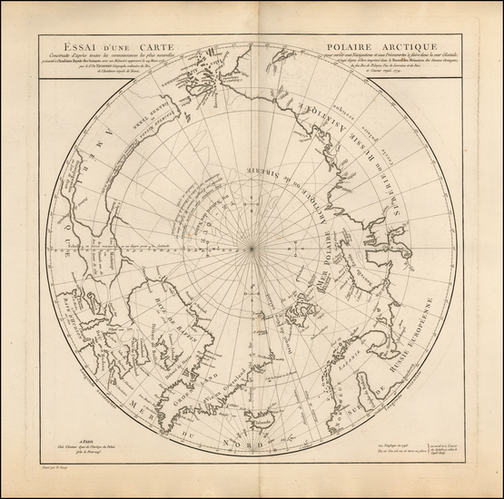 79-Polar Maps, Alaska, Canada, Russia, Scandinavia and Russia in Asia Map By Didier Robert de Vaug