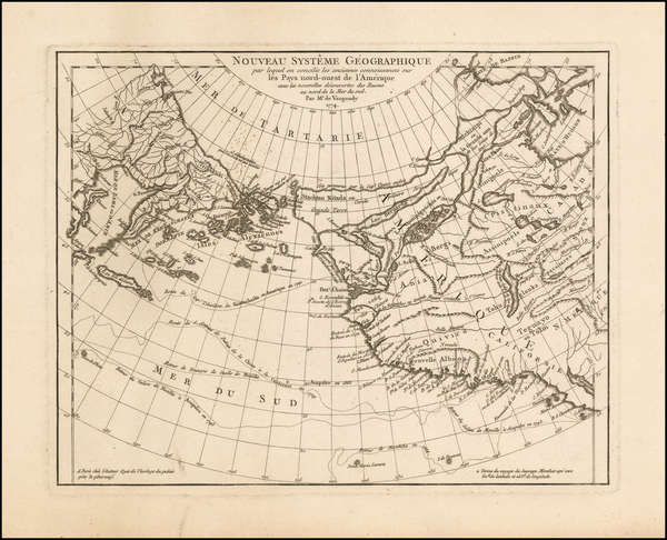 24-Polar Maps, Alaska, Canada, Pacific and Russia in Asia Map By Gilles Robert de Vaugondy