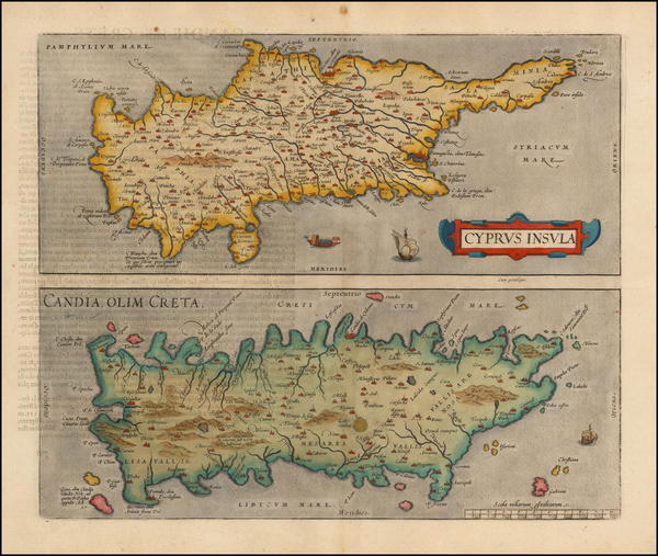 63-Greece, European Islands and Cyprus Map By Abraham Ortelius