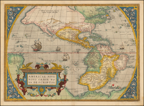 26-Western Hemisphere, South America and America Map By Abraham Ortelius