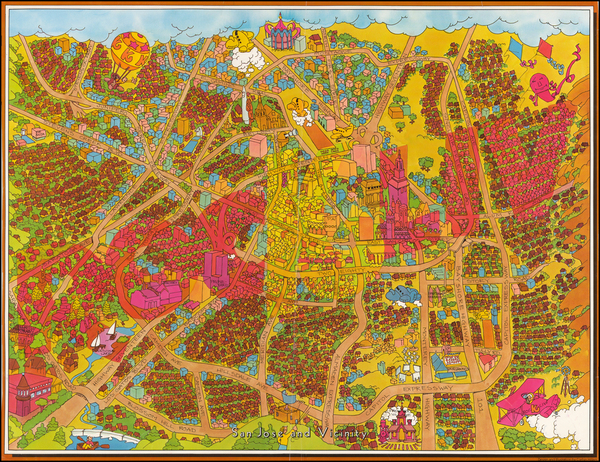 90-Pictorial Maps and California Map By Corbin Hilliam