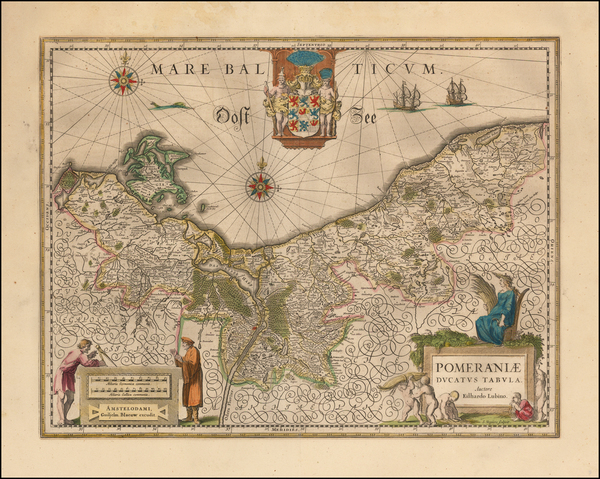 32-Germany Map By Willem Janszoon Blaeu
