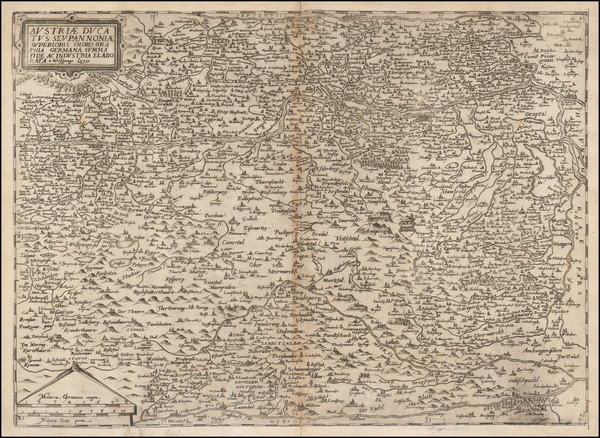 Austria Map By Cornelis de Jode