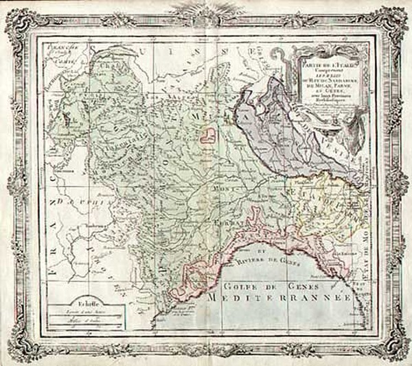 19-Europe and Italy Map By Louis Brion de la Tour