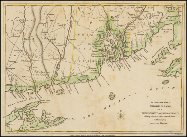 65-New England and Rhode Island Map By John Lodge