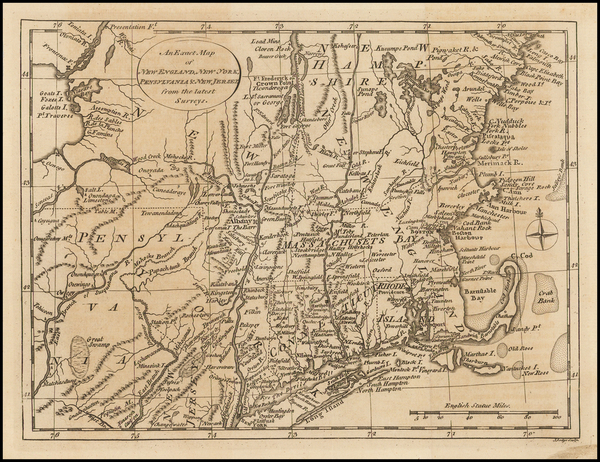 66-New England and American Revolution Map By John Lodge