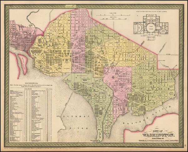 2-Mid-Atlantic, Washington, D.C. and Southeast Map By Thomas, Cowperthwait & Co.
