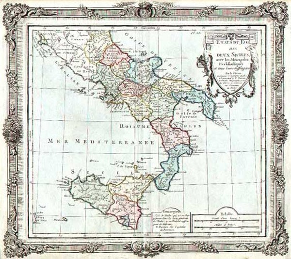 45-Europe and Italy Map By Louis Brion de la Tour