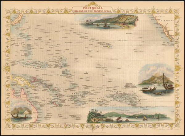 10-Pacific, Oceania, Hawaii and Other Pacific Islands Map By John Tallis