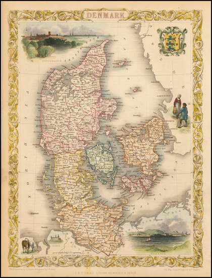 99-Scandinavia Map By John Tallis