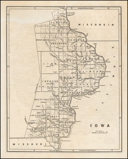 57-Midwest, Plains and Iowa Map By Sidney Morse  &  Samuel Breese