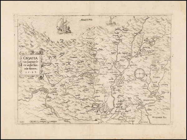 99-Balkans and Croatia & Slovenia Map By Johann Siebmacher