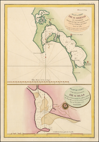 41-Mexico and California Map By Jean Francois Galaup de La Perouse