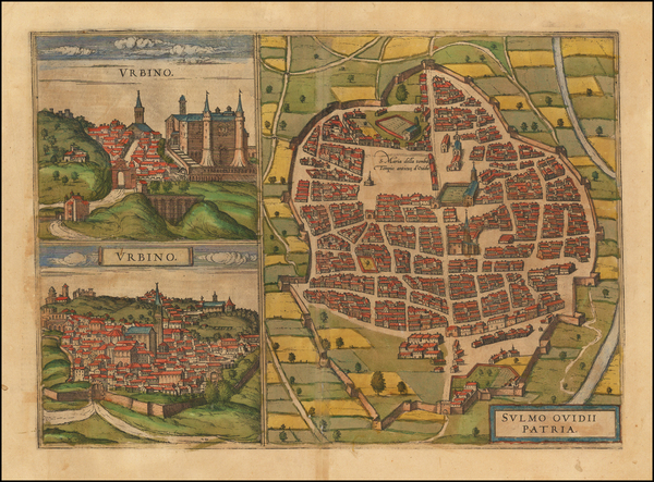 70-Italy and Other Italian Cities Map By Georg Braun  &  Frans Hogenberg
