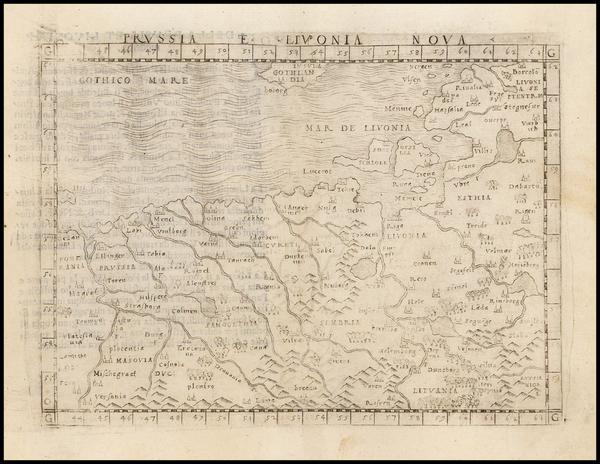 78-Poland and Baltic Countries Map By Giacomo Gastaldi