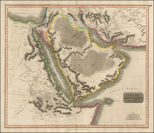 26-Asia, Middle East, Arabian Peninsula, Egypt and North Africa Map By John Thomson