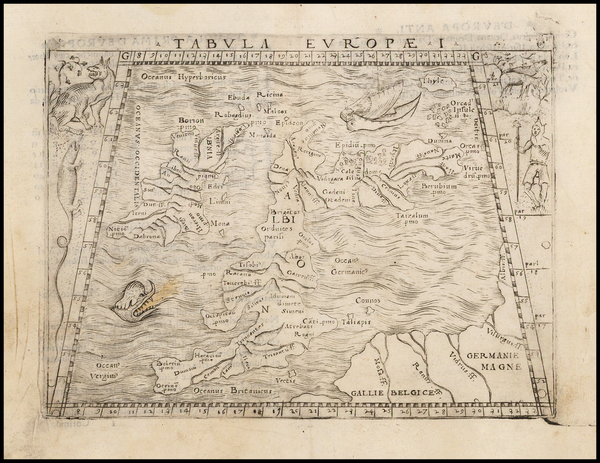 6-British Isles Map By Giacomo Gastaldi
