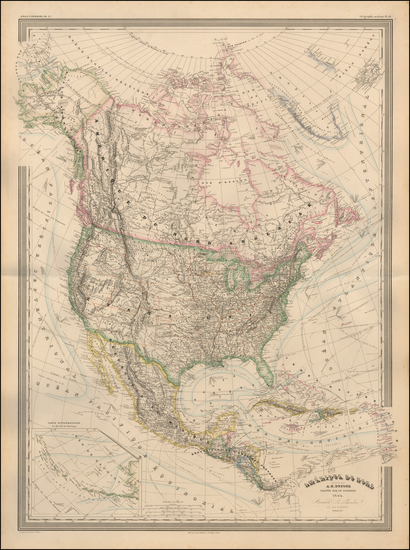 77-Colorado, Colorado and North America Map By Adolphe Hippolyte Dufour