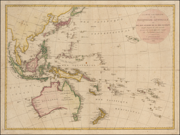 46-Australia & Oceania, Pacific, Australia, Oceania and Other Pacific Islands Map By Mortier,