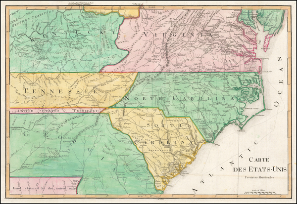 5-South and Southeast Map By Francois A.F. La Rochefoucault-Liancourt