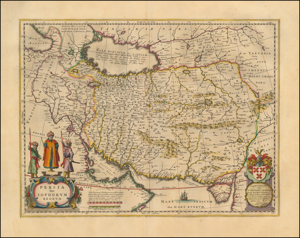 18-Central Asia & Caucasus, Middle East and Persia Map By Willem Janszoon Blaeu