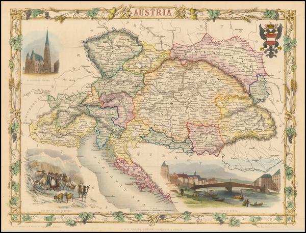 84-Austria Map By John Tallis