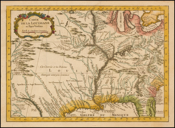 79-South, Southeast, Midwest and Southwest Map By Jacques Nicolas Bellin