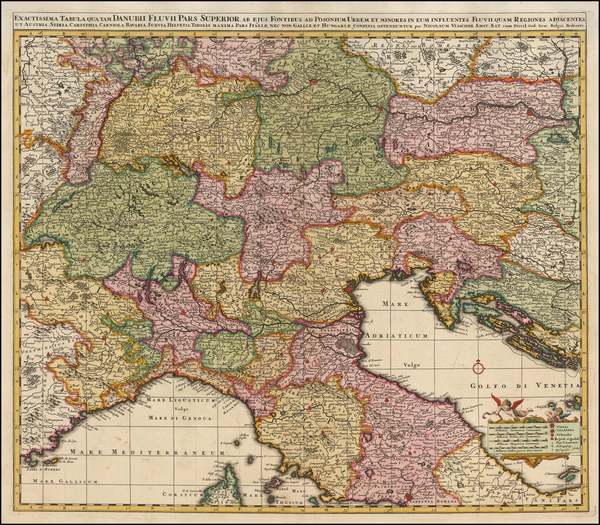 58-Austria, Hungary, Balkans and Italy Map By Nicolaes Visscher I