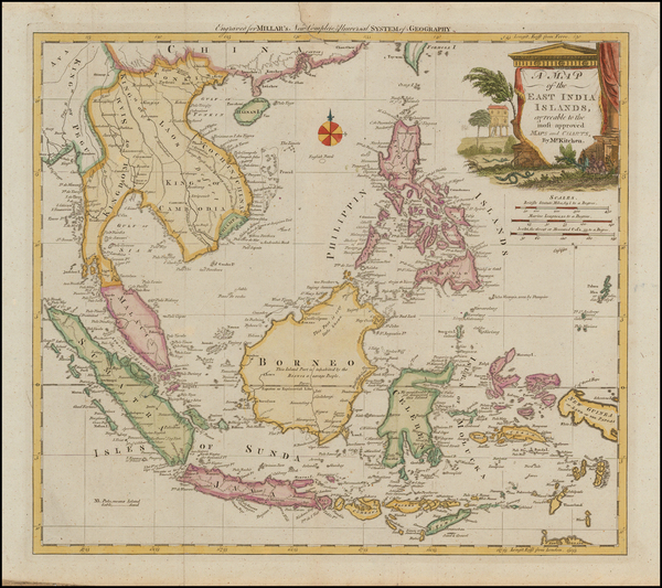 50-Southeast Asia, Philippines and Other Islands Map By Thomas Kitchin