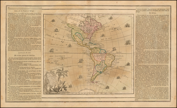 87-South America and America Map By Louis Brion de la Tour