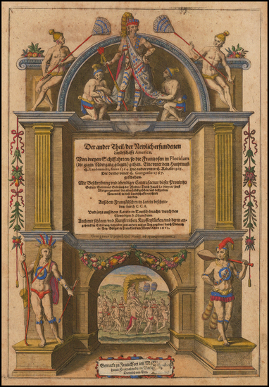 55-Title Pages Map By Theodor De Bry