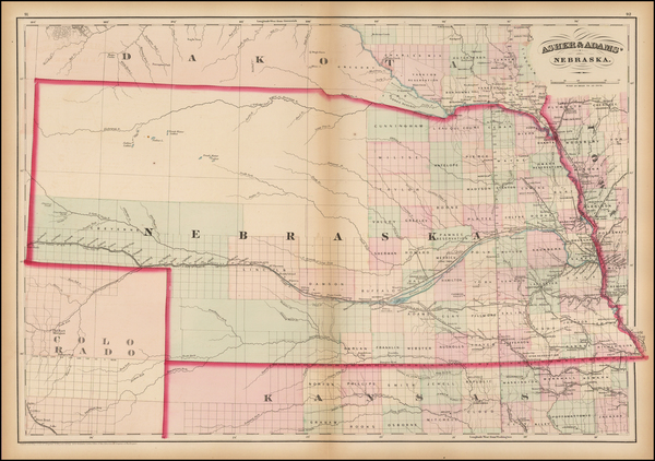13-Plains and Nebraska Map By Asher  &  Adams