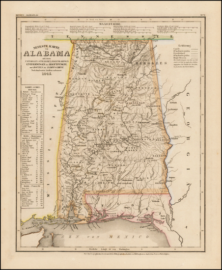 24-Alabama Map By Joseph Meyer  &  Carl Radefeld