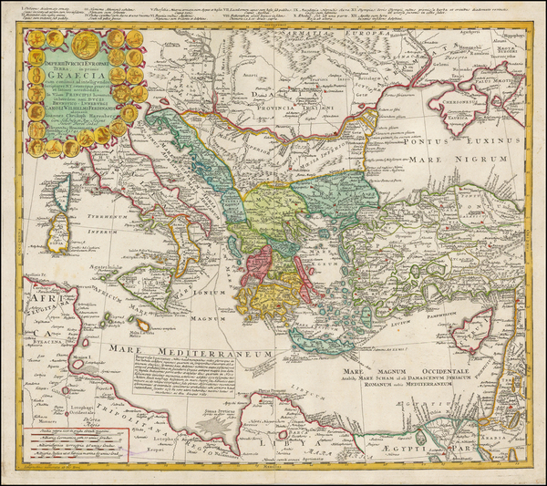 36-Ukraine, Italy, Turkey, Mediterranean and Turkey & Asia Minor Map By Homann Heirs