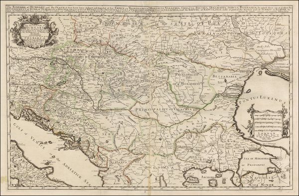 71-Austria, Hungary, Romania and Balkans Map By William Berry