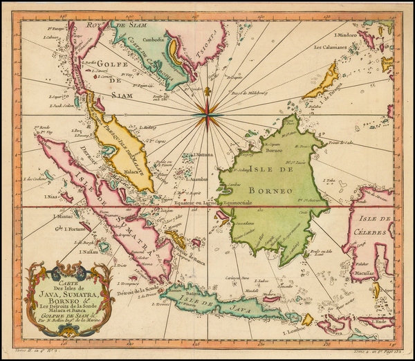 12-Southeast Asia and Malaysia Map By Jacques Nicolas Bellin
