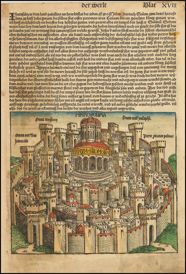 67-Holy Land Map By Hartmann Schedel