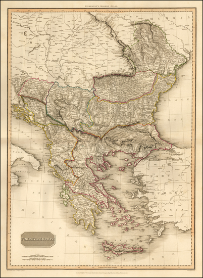 44-Romania, Balkans, Greece and Turkey Map By John Pinkerton